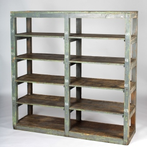 France circa 1900 industrial wood bookshelf