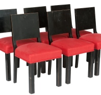 France circa 1920 set of 6 art deco chairs (AG144A)