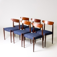 Belgium circa 1950 set of midcentury dining chairs (BA199)