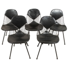 U.S. circa 1950 set of 5 bikini wire Eames chairs (U111015)