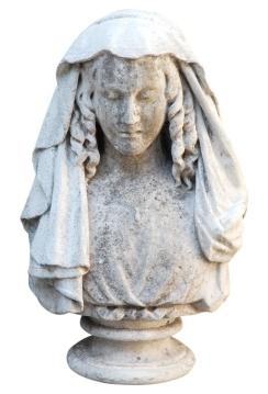 England circa 1860 carved stone bust (AH58)